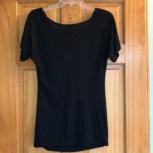 GAP Tops - GAP black short sleeve blouse size XS
